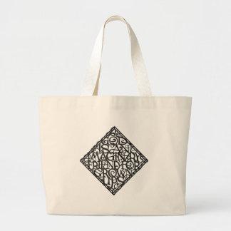 Grand Tote Bag Dieu est un ami imaginaire pour développé se lève
