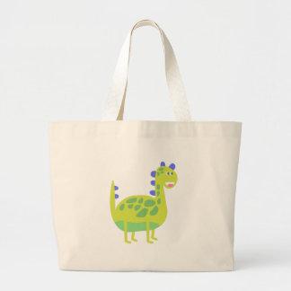 Grand Tote Bag Dinosaure vert drôle mignon