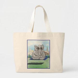 Grand Tote Bag Disparaissent le zen, éléphant Fourre-tout de bébé