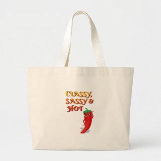 Grand Tote Bag Diva chique impertinente et de piment