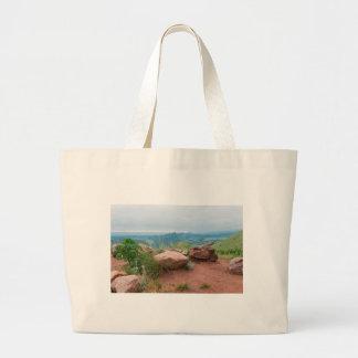 Grand Tote Bag Donnez sur au parc rouge de roches