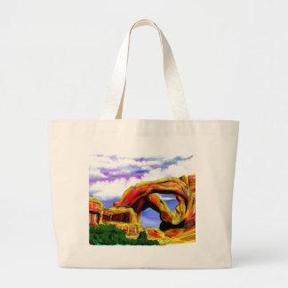 Grand Tote Bag Double peinture de paysage de voûte