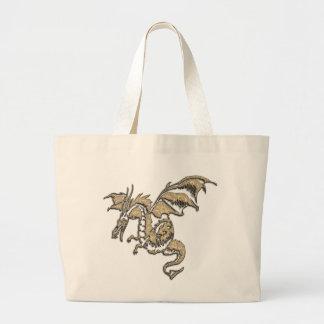 Grand Tote Bag Dragon d'or