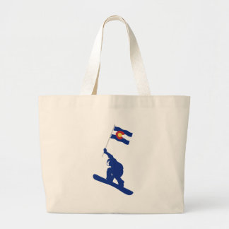 Grand Tote Bag Drapeau de surf des neiges du Colorado