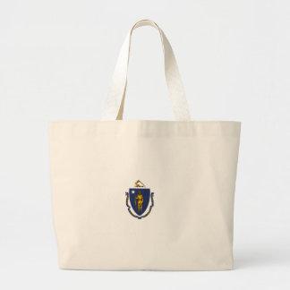 Grand Tote Bag Drapeau du Massachusetts