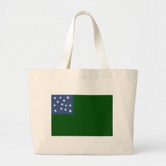 Grand Tote Bag Drapeau vert de garçons de montagne de la