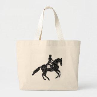 Grand Tote Bag Dressage Fourre-tout - conception de mosaïque de