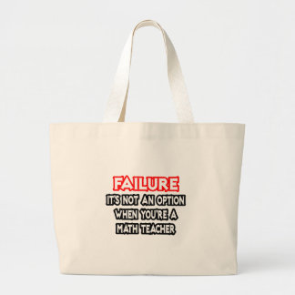 Grand Tote Bag Échec… pas un professeur de maths d'option…
