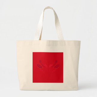 Grand Tote Bag Eco peint à la main de rouge de conception