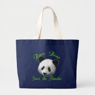 Grand Tote Bag Économies rares d'ours les pandas