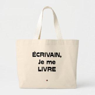 Grand Tote Bag ÉCRIVAIN, je me LIVRE - Jeux de Mots