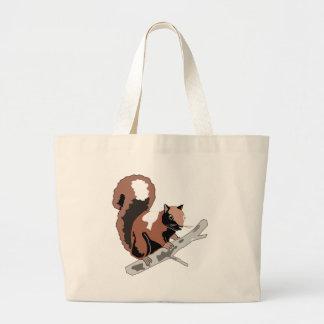 Grand Tote Bag Écureuil en bois