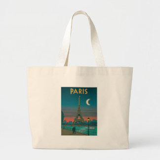 Grand Tote Bag Eiffel Tower vintage Paris