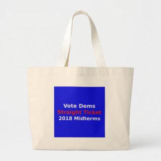 Grand Tote Bag Élections à moyen terme de Démocrate de vote en