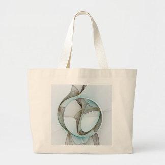 Grand Tote Bag Élégance moderne abstraite d'or de Brown de