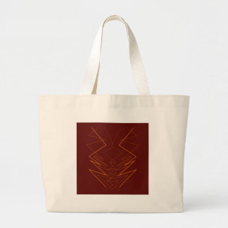 Grand Tote Bag Éléments d'or sur le zigzag de choco