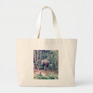Grand Tote Bag Éléphant en Thaïlande