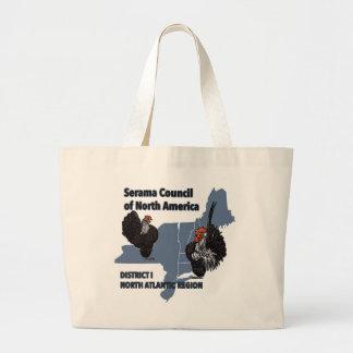Grand Tote Bag Éléphant Fourre-tout de logo de bannière de SCNA