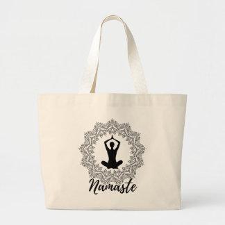 Grand Tote Bag Éléphant Fourre-tout de mandala de Namaste de YOGA
