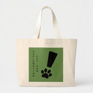 Grand Tote Bag Éléphant Fourre-tout de patte de chat