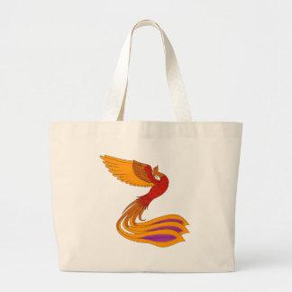 Grand Tote Bag Éléphant Fourre-tout d'oiseau de Phoenix