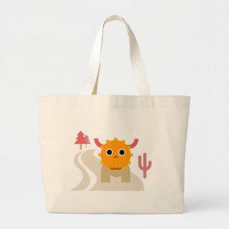 Grand Tote Bag Éléphant mignon Fourre-tout d'orignaux