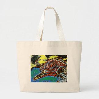 Grand Tote Bag Éléphant mystique Fourre-tout de canard de Muscovy