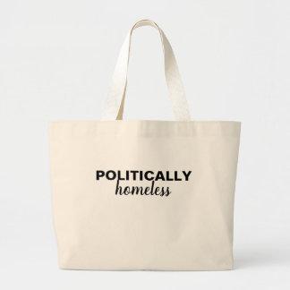 Grand Tote Bag Emballages politiquement sans abri