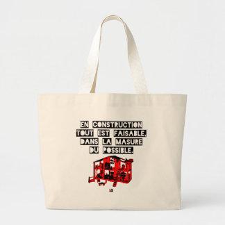 Grand Tote Bag En Construction tout est faisable Dans la Masure