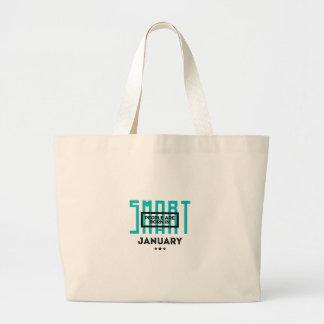 Grand Tote Bag En janvier anniversaire soutenu futé de bébés