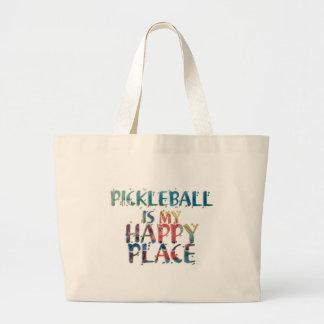 Grand Tote Bag Endroit heureux Fourre-tout de Pickleball