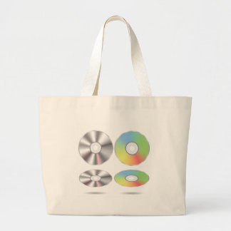 Grand Tote Bag ensemble de disques