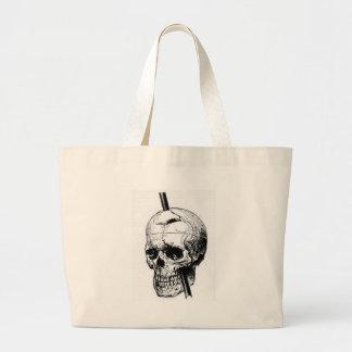 Grand Tote Bag Entraînement d'un long clou par le crâne d'un