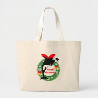 Grand Tote Bag épaulard de Joyeux Noël