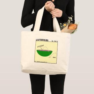 Grand Tote Bag Épicerie drôle mignonne de bande dessinée de