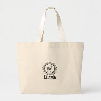Grand Tote Bag étiquette de lama