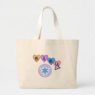 Grand Tote Bag Étoile de bébé d'EMT de la vie