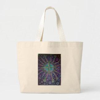 Grand Tote Bag Étoile nautique au fond de la mer