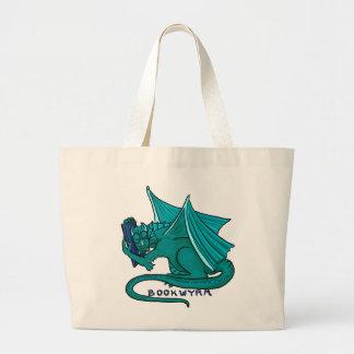 Grand Tote Bag Étreinte Fourre-tout de livre de Bookwyrm (enorme)
