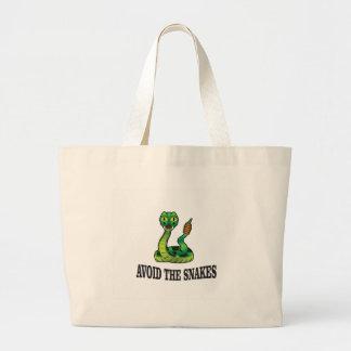 Grand Tote Bag évitez les serpents