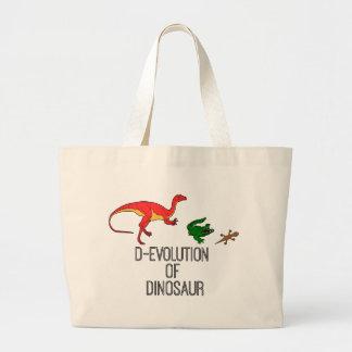 Grand Tote Bag Évolution de D de dinosaure