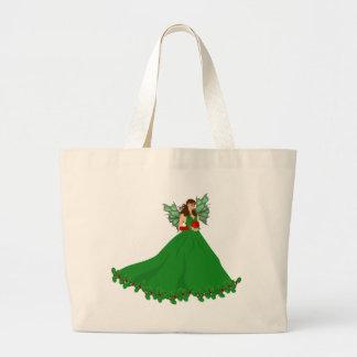 Grand Tote Bag Fée de Noël