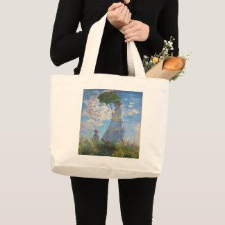 Grand Tote Bag Femme avec un parasol par Claude Monet