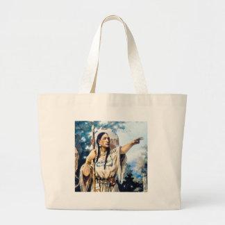 Grand Tote Bag femme indienne de squaw