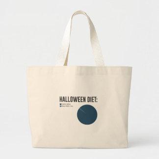 Grand Tote Bag Festins de bonbons à régime de Halloween et