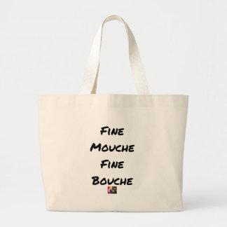 Grand Tote Bag FINE MOUCHE, FINE BOUCHE - Jeux de mots