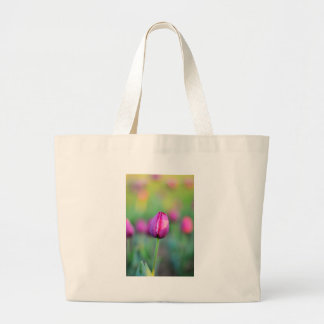 Grand Tote Bag fleur rose de tulipes