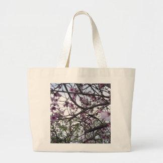 Grand Tote Bag Fleurs de cerisier roses