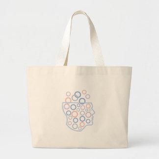 Grand Tote Bag Formes géométriques à l'intérieur de conception