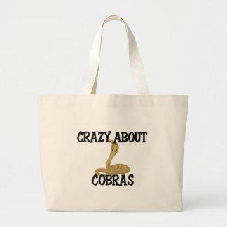 Grand Tote Bag Fou au sujet des cobras